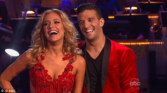 Lady in red: Kristen Cavallari looked stunning in crimson for her dance with Mark Ballas