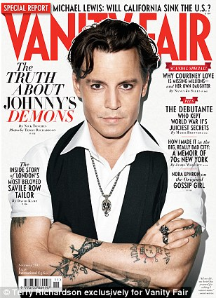 Controversial: In comments that have outraged anti-sexual violence groups, Johnny Depp has likened being photographed to 'being raped' during an interview in November's Vanity Fair