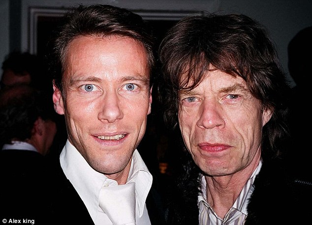 Life in the fast lane: Edward Davenport, pictured with Mick Jagger, once reportedly filled his swimming pool with Cognac so his party-goers could row in it