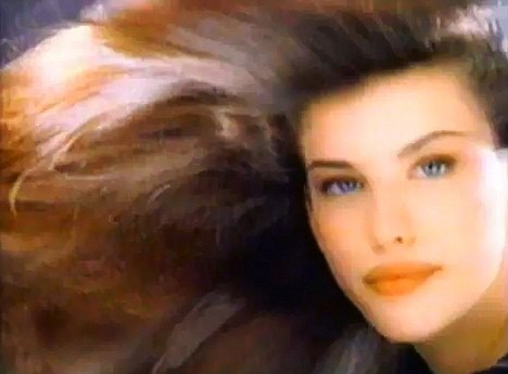 Spot the difference: Liv in the 1996 Pantene advert, filmed when the model and actress was 19 years old