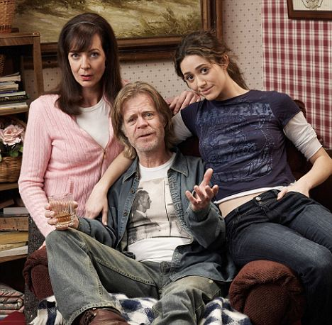 William H. Macy stars with  Allison Janney and Emmy Rossum on the U.S. version of the British show Shameless. Macy plays an alcoholic family patriarch living on disability benefits