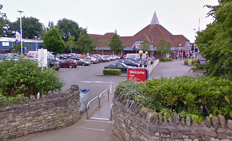 Charged: The Tesco car park in which Kris Marshall refused to take a breathaliser test when approached by police