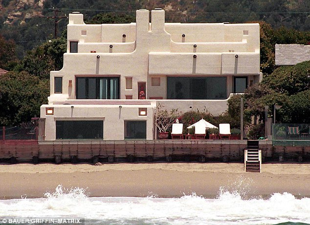 Malibu: Sting and Trudie bought this property for £3.9m in 1998