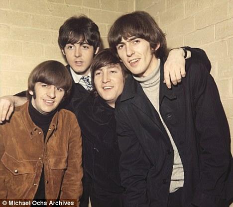 Flashback: George Harrison, John Lennon, Paul McCartney, Ringo Starr of The Beatles in 1965