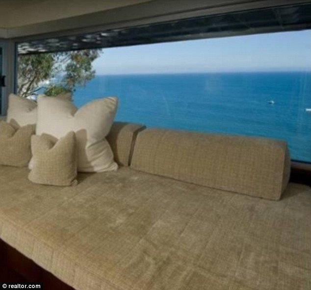 Window seat: Matthew and his chums could enjoy the spectacular ocean view from this seating area