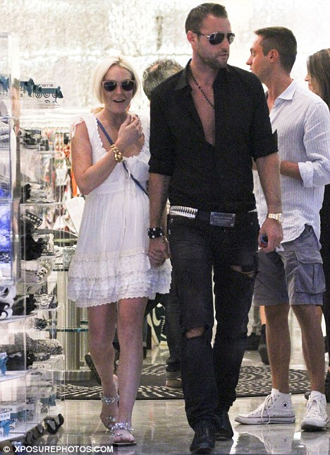 Rumoured lover interest: Lindsay grew close to Plein almost instantly, they were inseparable in Milan earlier in the month