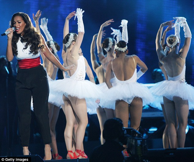 Voice of an angel: Leona Lewis performed at the Michael Forever concert with a host of ballerinas joining her