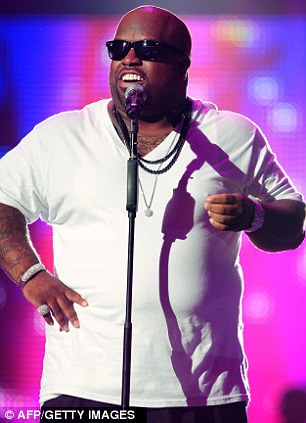 American friends: Cee Lo Green and Ne-Yo crossed the Atlantic and descended on Wales to take part