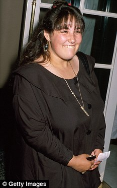 Bigger: Ricki, pictured back in 1990, has long been battling her weight