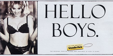 Provocative: Posters such as this iconic Wonderbra ad from the 1990s would face restrictions under the new rules