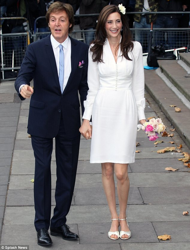 Happy couple: The pair looked relaxed as they arrived ahead of their wedding