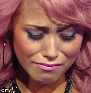 Out: James Michael's (left) sad eyes sum it up and upset Amelia Lily bows out of the show