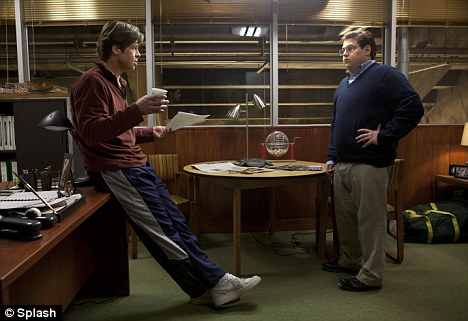 Mad for Brad: Hill and Brad Pitt co-star in the new hit film Moneyball