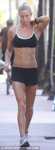 Moved on? This blonde was seen leaving Alex Rodriguez home in Miami yesterday to go for a jog while the New York Yankees slugger left separately to get coffee
