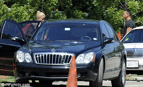 Going public: The pair were seen outside his Miami home