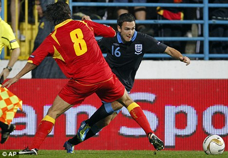 National service: Downing was on England duty in Montenegro last week