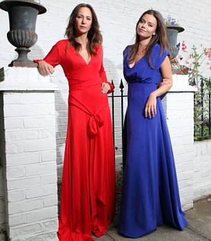 Lady Natasha Rufus Isaacs and her business partner Lavinia Brennan in two Beulah dresses - including the one the Duchess wore