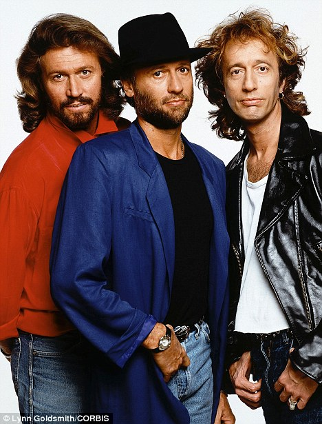 Legends: Robin (right) was one third of the Bee Gees along with his brothers Maurice (middle) and Barry