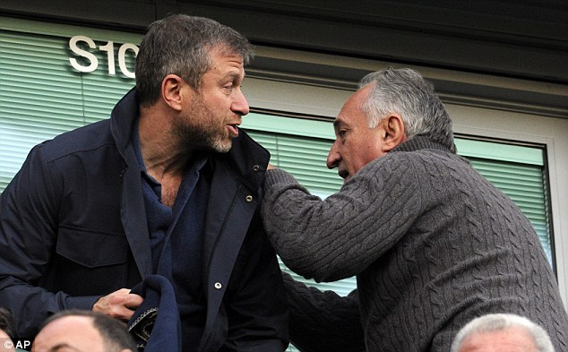 Main man: Chelsea owner Roman Abramovich (left) was it attendance at Stamford Bridge