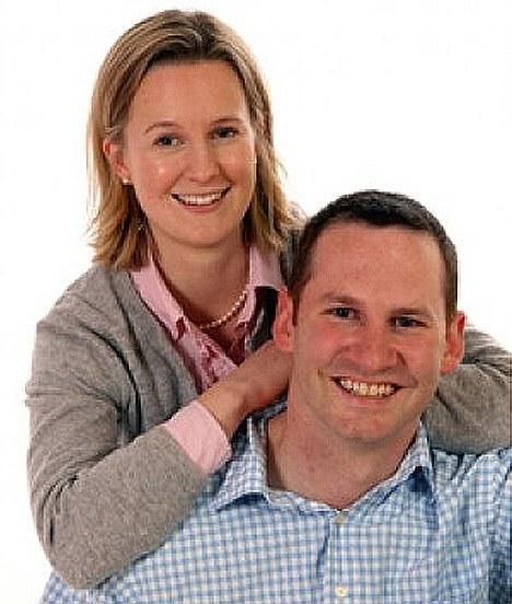 Stag: Dr Fox's Special Advisor Luke Coffey with wife Emily
