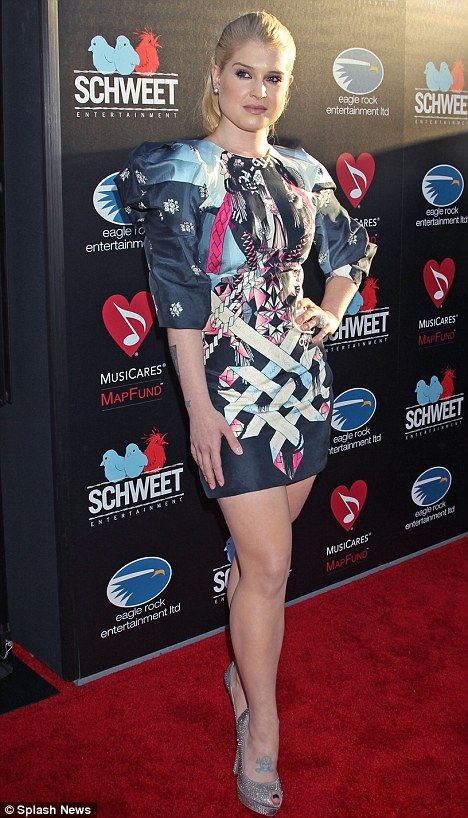 On the attack: Kelly Osbourne knocks Christina Aguilera's weight yet again