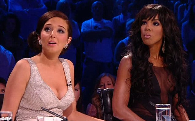 Little distracting? As the pair became emotional during the tense elimination viewers were transfixed by their revealing ensembles