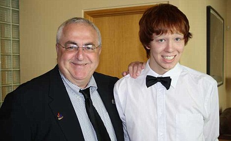 Desperate plea: Jamie Hubley (pictured with his father Allan Hubley) took his own life last month after revealing he was bullied for being gay