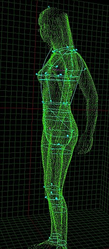 The Bodymetric scanner takes readings from 300,000 points all over the body, creating an accurate map of the body's curves and contours
