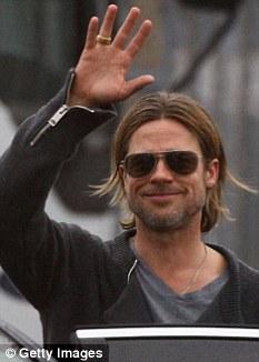 Brad Pitt in Glasgow