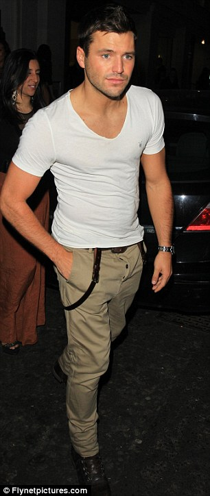 Not his lucky night: Mark Wright arrived at the club by himself... and was also spotted leaving alone