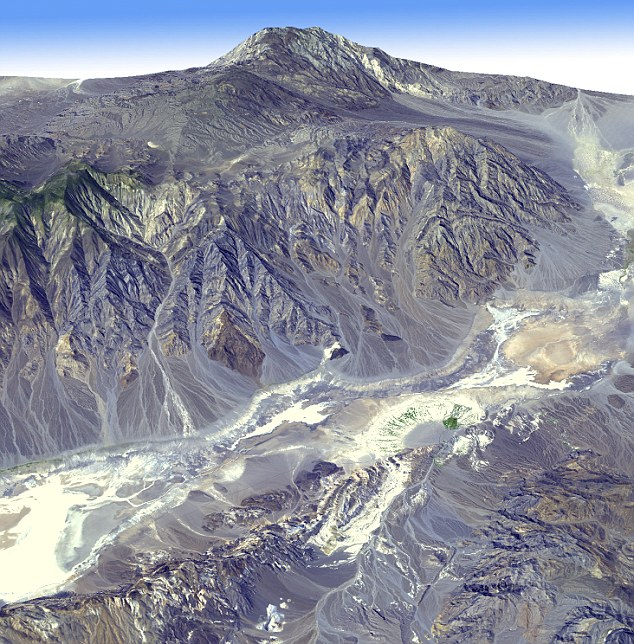 Death from above: The 3D map captures an astonishing view of Death Valley in California