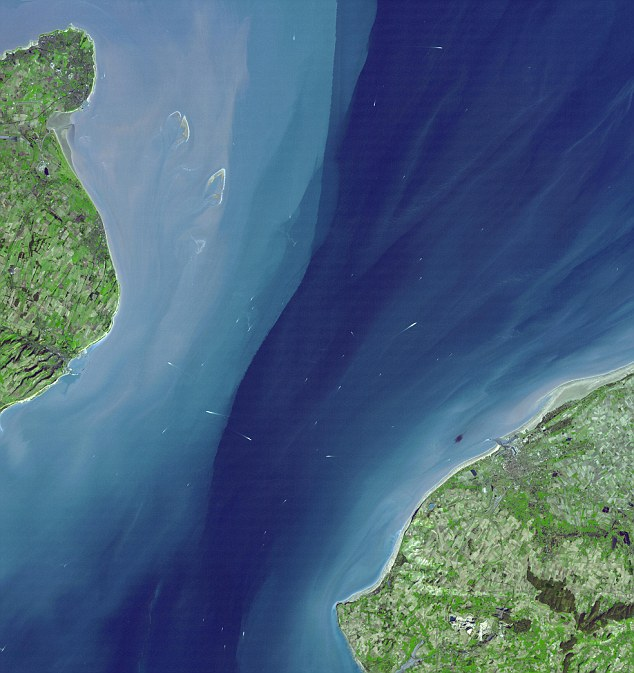 The English Channel - as seen from space. The new upgraded scans from Nasa's Aster scanner offer a more realistic view of water, as well as improved data