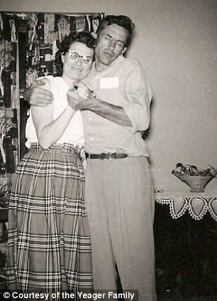 Always together: Gordon and Norma Yeager loved to socialise and spend time in the outdoors, particularly at Clear Lake, Minnesota