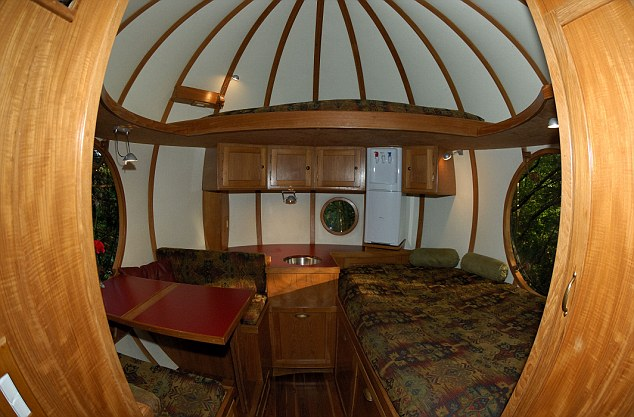 Cabin fever: Inside one of the Free Spirit Spheres on Vancouver Island