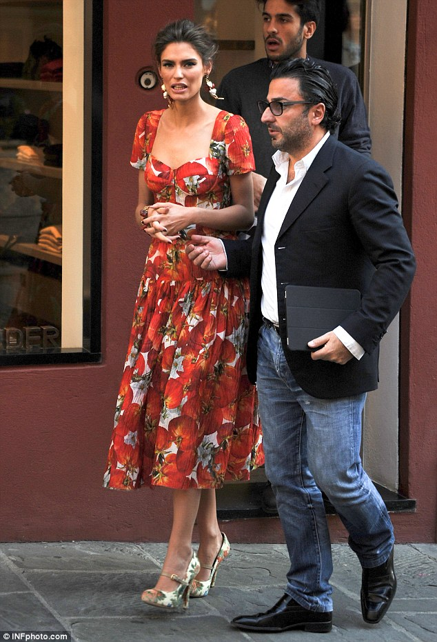 Model behaviour: Italian beauty Bianca Balti looked effortlessly stunning as she also took part in the advert for the fashion brand