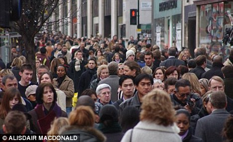 Swelling numbers: The figure has shocked experts who say such an increase in population could be catastrophic, plundering the world's resources