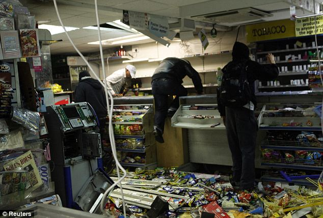 Smash and grab: Looters rampage through a convenience store in Hackney