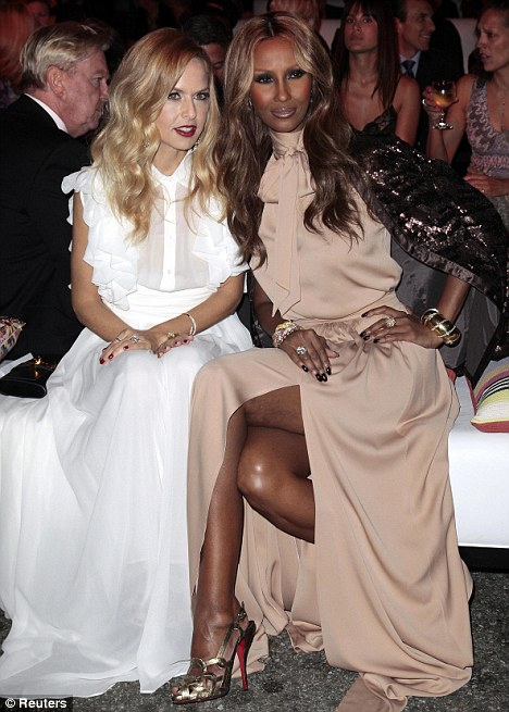 Friends: Iman mingled with celebrity stylist Rachel Zoe who was also invited