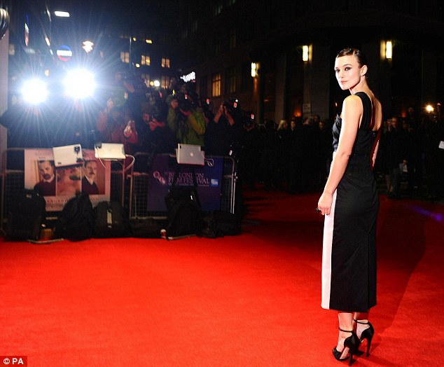 Glamour girl: The combination of the dress and heels made Knightley look even taller than 5ft 7in