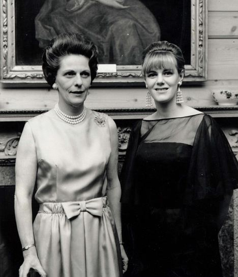 Beloved: Camilla with her mother in 1965, who died from osteoporosis age 72 in 1994
