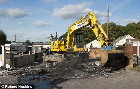 Sop: After a wildlife officer spotted bat droppings, parts of the demolition will be halted as the species is protected