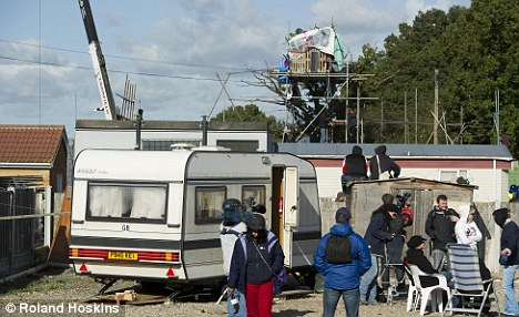 Keep moving: Basildon Council said the clearance would continue bu the two caravans will be protected