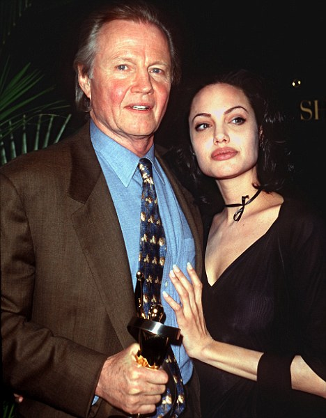 Before the rift: Jon Voight and Angelina Jolie in 2000