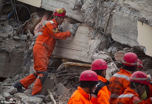 Devastating: At least 459 people have so far been confirmed dead after the 7.2-magnitude earthquake hit eastern Turkey