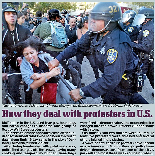 How they deal with protesters in US