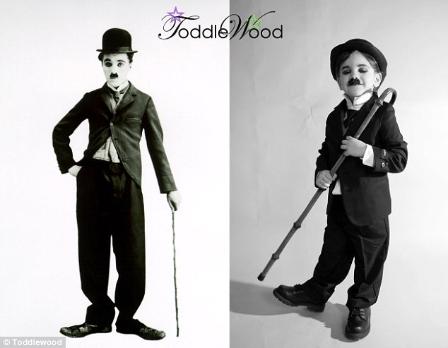 Charlie Chaplin: The photo project sees iconic Hollywood images recreated using three- to six-year-olds