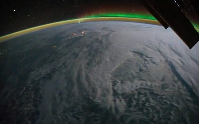 Whole cloud formations can be seen clearly moving across the earth's surface as the ISS passes over
