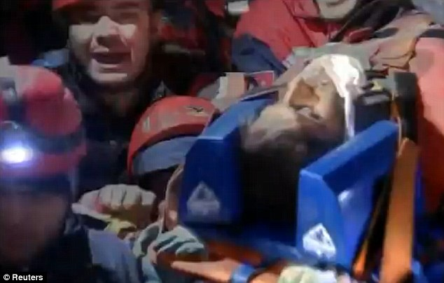 Survivor: Serhat Tokay, 13, was miraculously pulled from the rubble alive 100 hours after the powerful quake