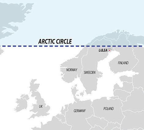 The data centre is located near the edge of the Arctic circle in Lulea. Nordic countries have begun to market such locations as ideal for data centres because of the biting cold