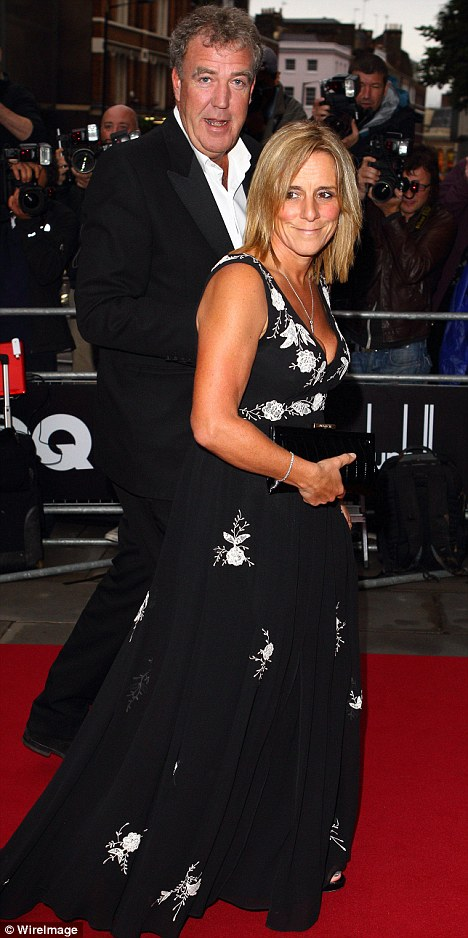 Second wife: The presenter with Francie on the red carpet last month